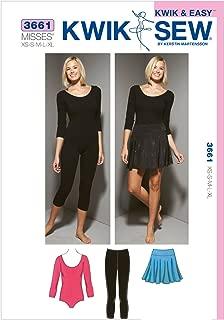 Kwik Sew K3661 Leotard Sewing Pattern, Leggings and Skirt