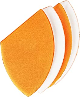 Real Techniques Miracle Blotting Cushions (Pack of 4), Latex-Free, Polyurethane Foam, Multi-Purpose, Round Bottom Makeup Sponges, Ideal for Blending