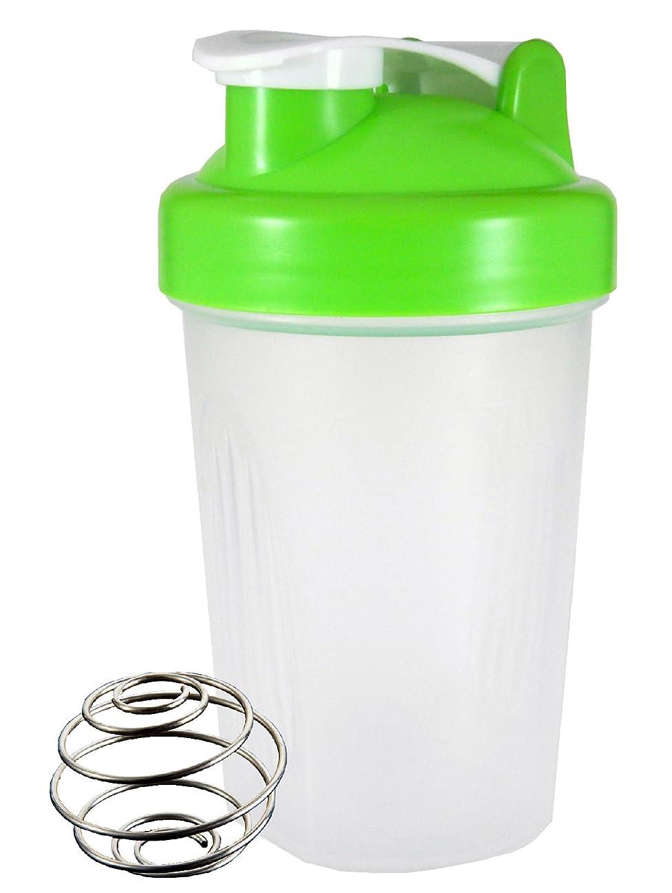 単独で合体勇敢なノーブランド シェーカーボトル 400ml (グリーン)