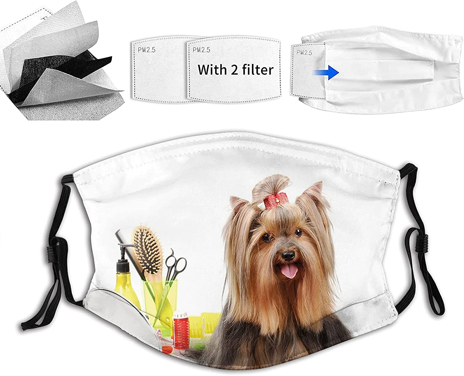 Yorkshire Terrier with Stylish Hairdressing Equipment Special price for a limited time Sci Mirror Max 63% OFF