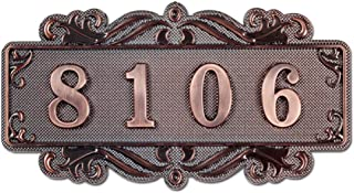 BXT Customized House Mailbox Number Sign Self-Adhesive,4 Digits Only, Personalized Name Plate for Door,Office,Wall,Garden,Hotel,Apartment,Dormitory Room Number Plague Signs