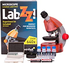 Levenhuk LabZZ M101 Orange Microscope for Kids with Experiment Kit – Choose Your Favorite Color