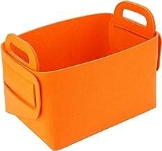 "Xian min lu trade co, LTD Felt Storage Basket Bins(14""×10""×9""), Collapsible Baskets for Home Bedroom Bathroom Shelves Clos..."