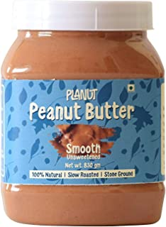 Planut Chemical Free Peanut Butter, Smooth, Unsweetened, 830g | All-natural, High Protein
