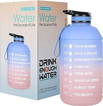 ZAVAREA Overlarge 1 Gallon/128 OZ Motivational Water Bottle