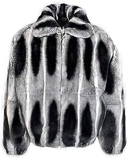 REX Rabbit Chinchilla Fur Stylish Winter Outerwear