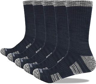 Thermal Socks Men Wool Blend Cushioned Doble Layer Size 9-13 UK Black