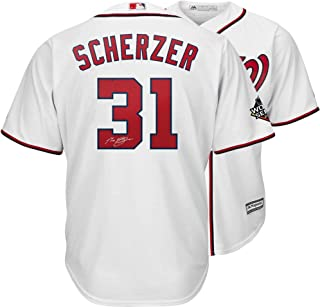 Max Scherzer Washington Nationals Autographed 2019 World Series Champions White Majestic Replica Jersey - Fanatics Authentic Certified