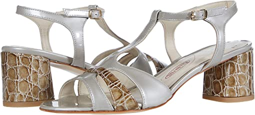 Silk Patent Pearl/Taupe Summer Side