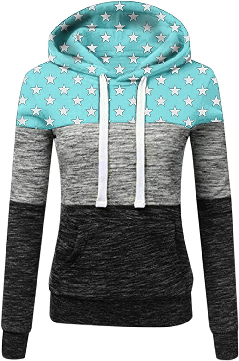 Womens Zip-Up Long Sleeve Striped Lightweight Hooded Sweatshirts Casual Knit Tunic Pullover Outwears with Pockets
