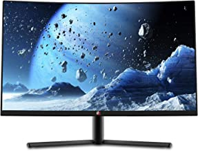 Deco Gear DGVM27AB 27-Inch 2560x1440 HDR 400 Color Accurate Curved Gaming Monitor, VA Panel, 16:9 Aspect Ratio, 3000:1 Con...