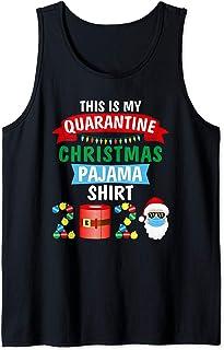 2020 divertidos regalos de pijama de Navidad para la familia Camiseta sin Mangas