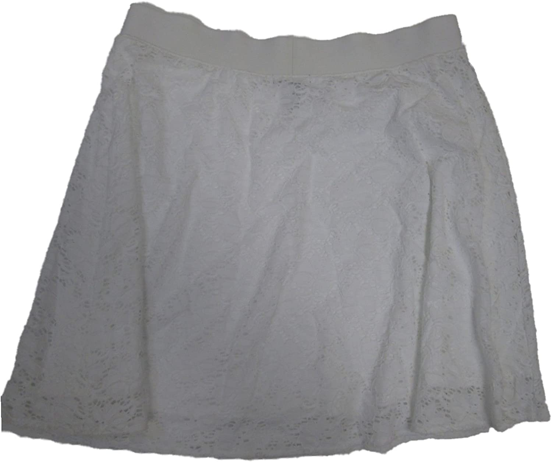 Alfani Women's Lace Skirt Petite Large White
