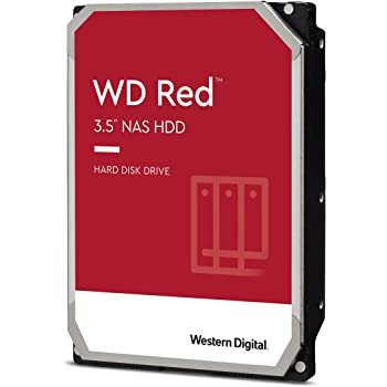 "Western Digital 6TB WD Red NAS Internal Hard Drive - 5400 RPM Class, SATA 6 Gb/s, SMR, 256MB Cache, 3.5"" - WD60EFAX"