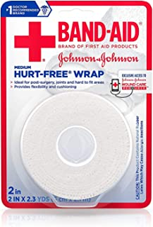 Band-Aid Brand of First Aid Products Hurt-Free Self-Adherent Wound Wrap for Securing Dressings On Post-Surgical Wounds, Joints, or Other Hard-To-Fit Areas, 2 In by 2.3 yd (Pack of 2)