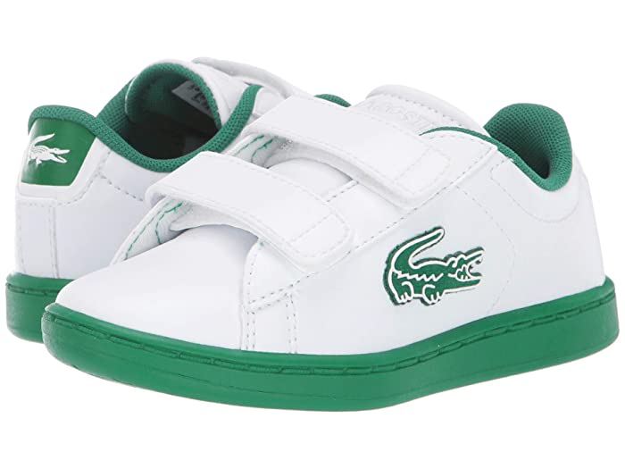 LACOSTE Youth Big Kids Lerond Leather White White Green Fashion Classic Shoes