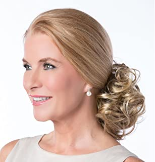 Twin Curly Clip Petite by Toni Brattin Add Volume Attach 2 Clips Womens Hairpiece - Reddish Blonde
