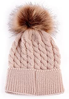 Baby Warm Wool Hemming Hat Newborn Girls Boys Winter Spring Knitted Wool Beanie Cap 5 Colors
