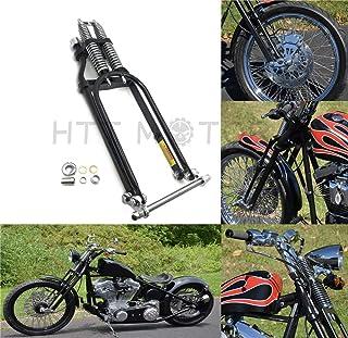 """HTTMT SF001-I- Compatible with 20"""" 2"""" Under Stock Black Narrow Springer Front End Kit Harley Chopper Bobber"""