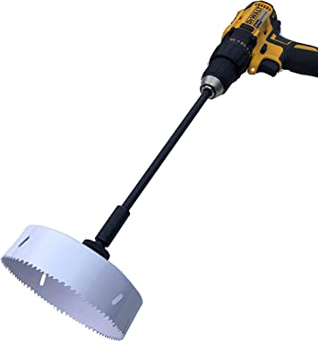 Keyfit Tools Power Sprinkler Head Trimmer 6 Inch Diameter Trim Your Rotors & Spray Heads in Seconds! for Overgrown Sprink