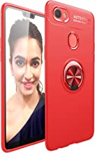 Oppo F7 Case, Premium TPU Bumper Ultra Slim Fit Flexible Phone Case Cover, Metal 360 Degree Swivel Magnetic Ring Buckle fo...