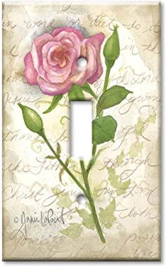One Gang Toggle Wall Plate/Single Gang Switch Plate - Old Rose