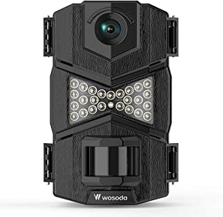 WOSODA Trail Camera, 16MP 1080P Hunting Game Camera, Wildlife Camera with Upgraded 850nm IR LEDs Night Vision 260ft, 2.0''LCD for Home Security Wildlife Monitoring/Hunting