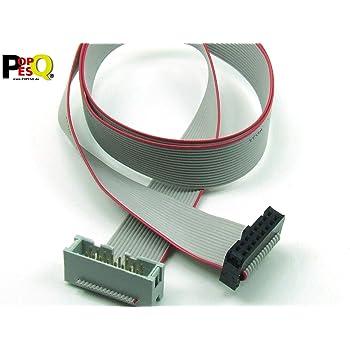 2 x 7 cca POPESQ/® C/âble de rallonge IDC 14 pins 100 cm // 1 m Longueur Cable #A1348