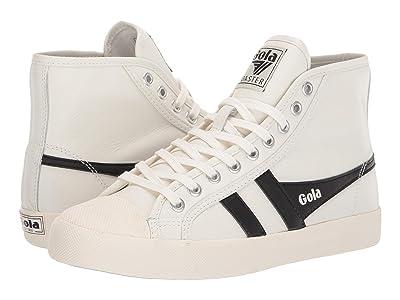 Gola Coaster High Leather (Off-White/Black) Women