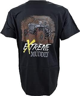 Extreme Muddin' Getting Muddy On on a Black T Shirt