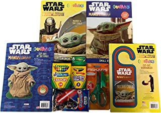 Star Wars Coloring Book The Child Mandalorian Activity Books Crayola Crayons Colored Safety Scissors Puzzles Cut Outs Maze...