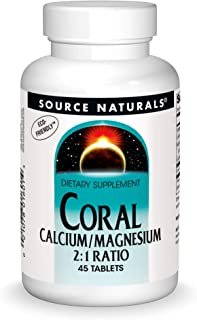 Sponsored Ad - Source Naturals Coral Calcium & Magnesium 600 mg Dietary Supplement - 45 Tablets