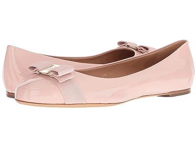 Salvatore Ferragamo Varina Ballet Flat w/ Bow (Bon Bon Patent) Women
