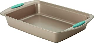 Rachael Ray 46682 Cucina Nonstick Baking Pan With Grips / Nonstick Cake Pan With Grips, Rectangle - 9 Inch x 13 Inch, Brown