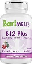 BariMelts B12 Plus, Dissolvable Bariatric Vitamins, Natural Cherry Flavor, 90 Fast Melting Tablets