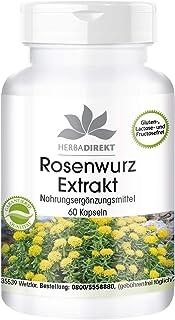 Extracto de Rhodiola rosea 500mg – 3% de rosavina – 1%