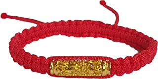 Ninefah Sai Sin Handmade Takrut Brass Wood Buddhist Thai Wristband Amulet Blessed Karma Good Luck Love Friendship Yoga Meditation Mindfulness Bracelet Gift