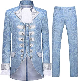 Mens Dinner Suit Tuxedo Slim Fit Wedding Three Piece Suits Retro Blue
