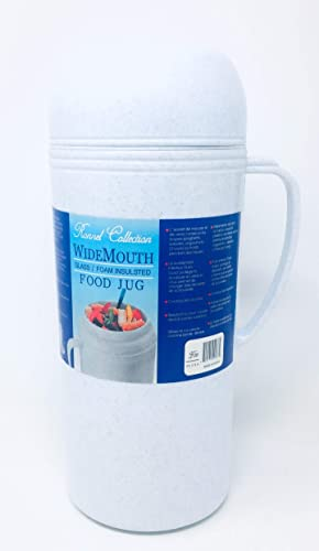 popular Vacuum online Insulated Food Jug popular Flask Jar Wide Mouth Thermos 33.8 Fl Oz Hot/Cold 1-Ltr outlet sale