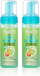 Garnier Fructis Haircare - Hydra Recharge - Moisture Whip Leave-In Conditioner - For Dry Hair - Net Wt. 5 FL OZ (150 mL) Per Bottle - Pack of 2 (Discontinued By Manufacturer)