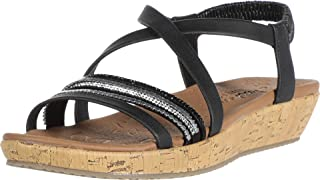 Skechers BRIE - MIDNIGHT SHINE womens Wedge Sandal