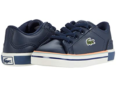 Lacoste Kids Lerond 0320 1 CUI (Toddler/Little Kid) (Navy/Off-White) Kid
