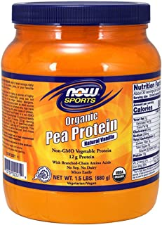 Now Foods Sports, Organic Pea Protein, Natural Vanilla, 1.5 lbs (680 g)