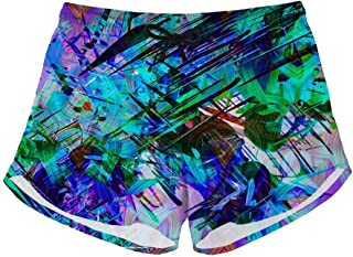 Mens Swim Trunks Tie Dye Peace Sign 3D Printed Beach Board Shorts with Pockets Cool Novelty Bathing Suits for Teen Boys