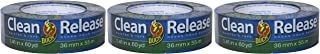 Duck Brand 240194 Clean Release Painter's Tape, 1.41 in. x 60 yd, Blue, Single Roll 3 Pack