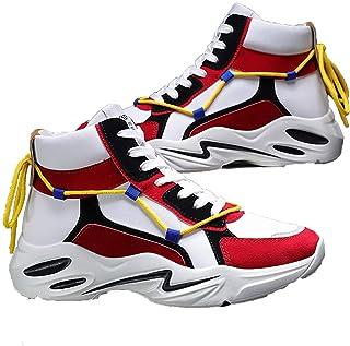 Zapatillas de Baloncesto para Hombre, Zapatos Deportivos con Forro Transpirable de Plataforma Antideslizante Cordones y re...
