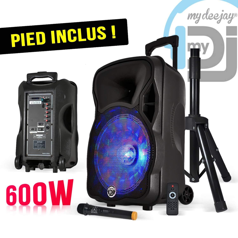 My DJ My Deejay Pack Magik12 - Altavoz portátil con luces LED RGB ...