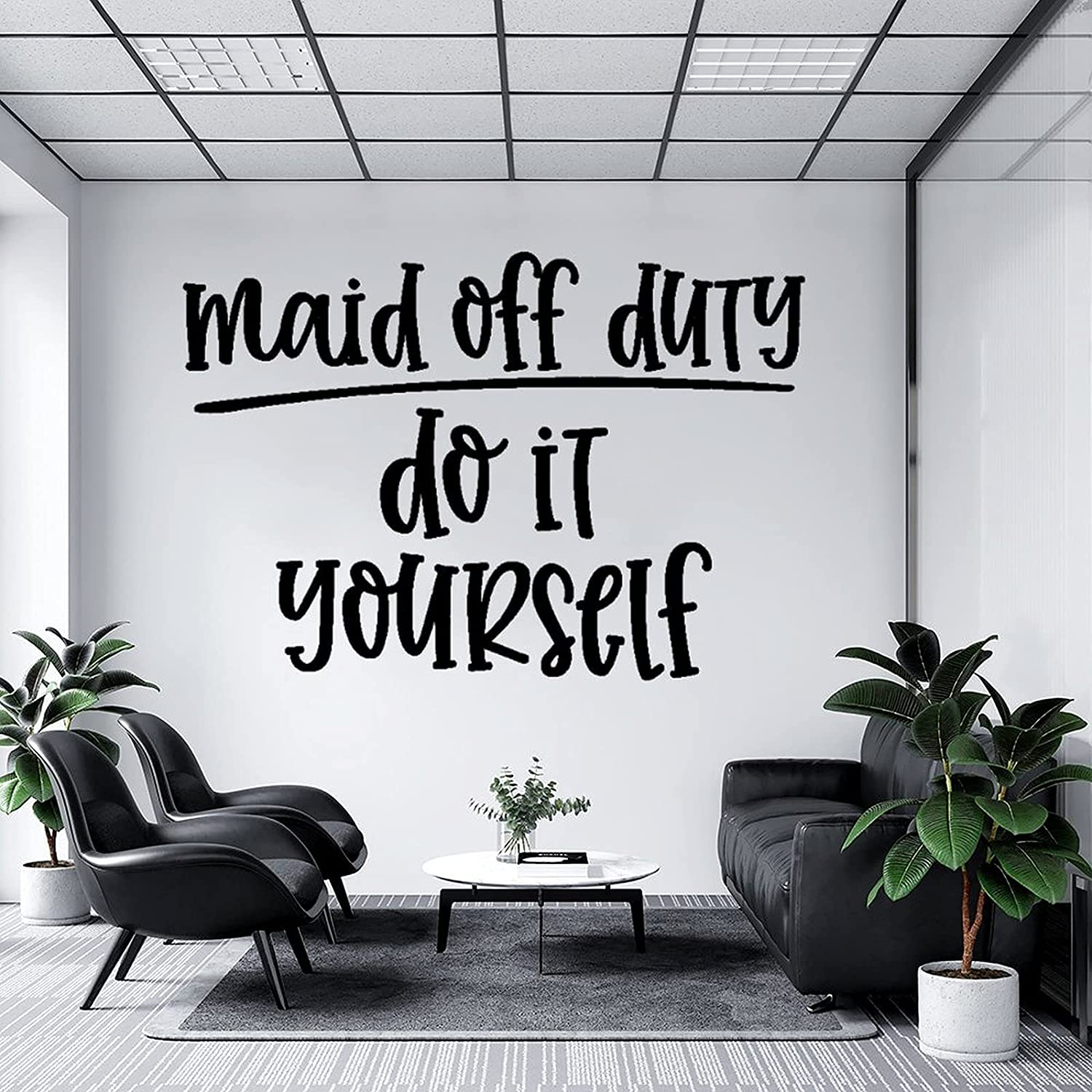 Wall Decal Maid Brand new Off Duty Do It Nursery Classroom Yourself, low-pricing Kit