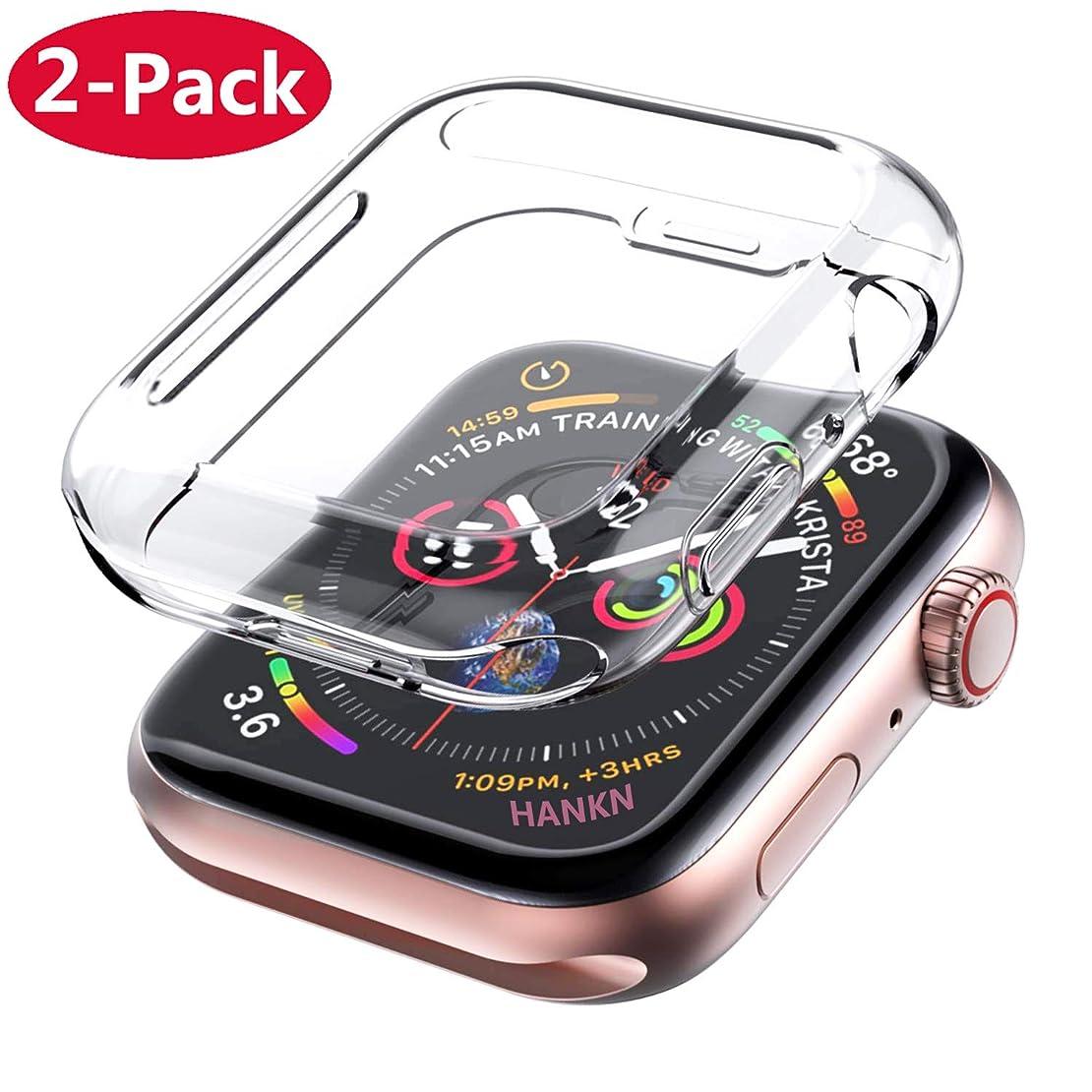 ペグ協定不平を言う[2枚] アップル ウォッチ シリーズ 4 / シリーズ 5 カバー 40mm 透明 ケース クリア 全面保護 超薄い 透明 TPU 全面保護ケースと周り保護 ケース 耐衝撃性 高感度 Iwatch時計Apple Watch Series 4 5 Case