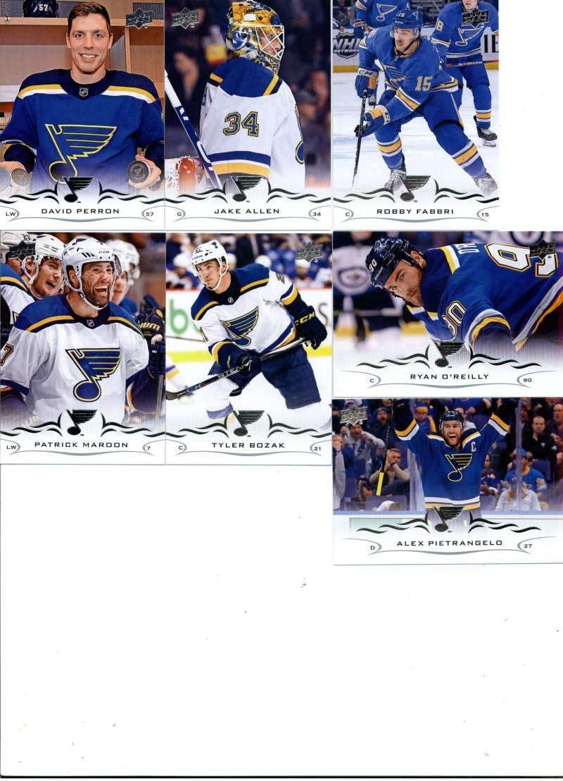 2018-19 70% OFF Outlet Upper Purchase Deck Series 2 Hockey St. Louis of 7 Blues Team Set